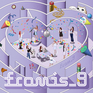 love is a four letter word album cover - fromis 9 from 9 single bubble days